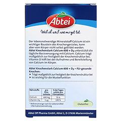 ABTEI Knochenstark (Calcium 600 + D3) 28 Stück - Rückseite
