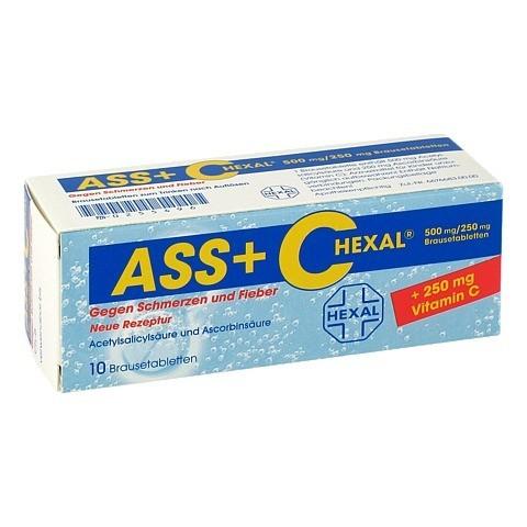 ASS+C HEXAL gegen Schmerzen und Fieber 10 Stück