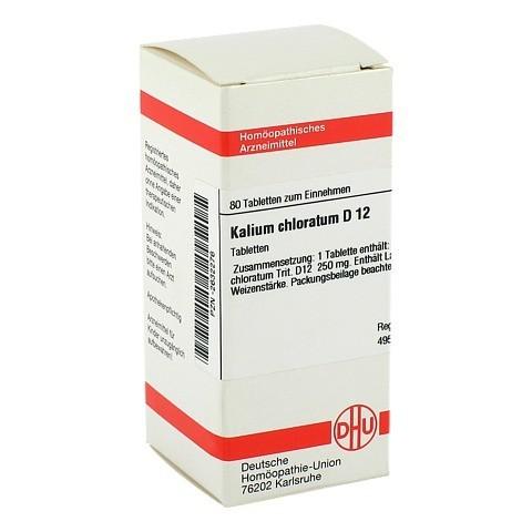 KALIUM CHLORATUM D 12 Tabletten 80 Stück N1