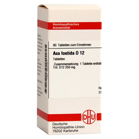 ASA FOETIDA D 12 Tabletten 80 Stück N1