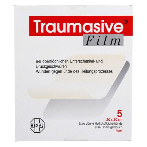 TRAUMASIVE Film 20x20cm Hydrokolloid-Verband 5 St�ck