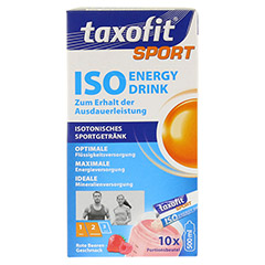 TAXOFIT Sport Iso Energy Drink rote Beeren Port.B. 10 Stück - Vorderseite