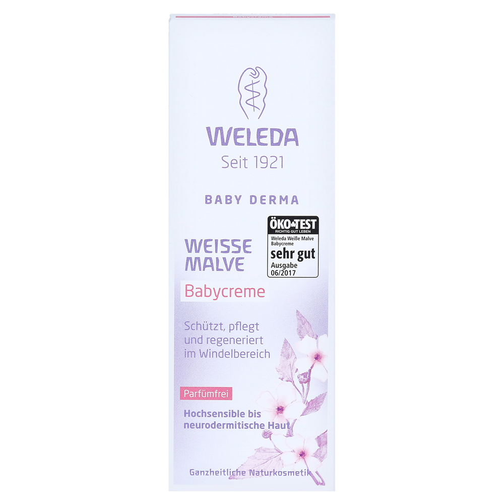 weleda wei e malve babycreme 50 milliliter vorderseite. Black Bedroom Furniture Sets. Home Design Ideas
