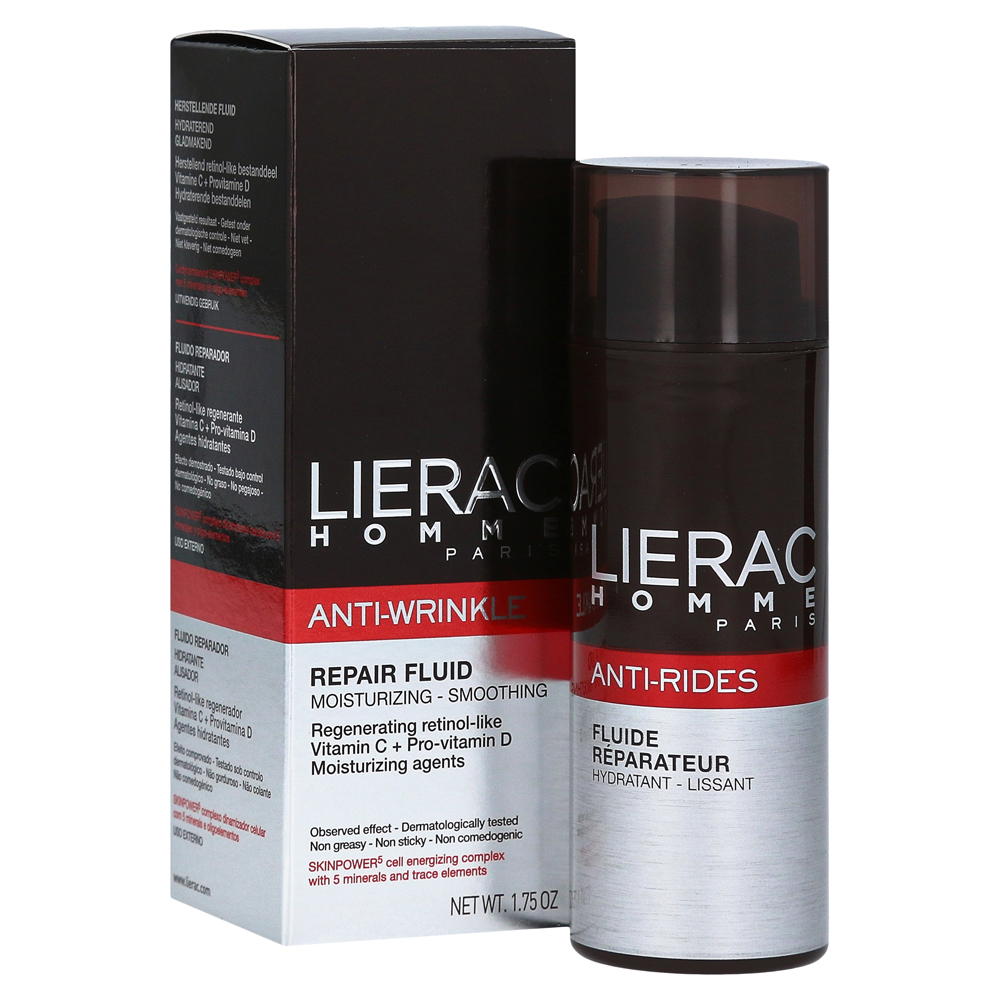 lierac homme anti rides fluid creme 50 milliliter online bestellen medpex versandapotheke. Black Bedroom Furniture Sets. Home Design Ideas