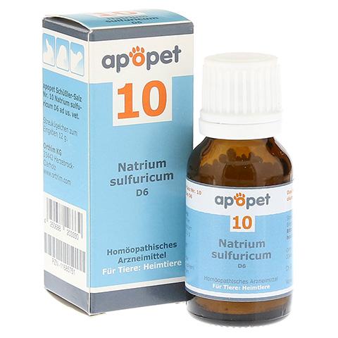 APOPET Schüßler-Salz Nr.10 Natrium sulf.D 6 vet. 12 Gramm
