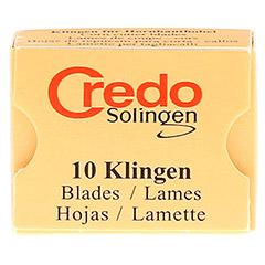 CREDO Hornhaut Klingen 10 Stück - Vorderseite