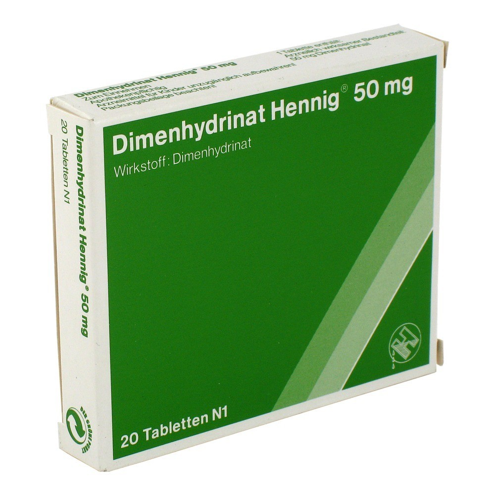 dimenhydrinat hennig 50 mg tabletten 20 st ck n1 online bestellen medpex versandapotheke. Black Bedroom Furniture Sets. Home Design Ideas