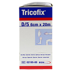 TRICOFIX Schlauchverband Gr.D 6 cmx20 m 1 Stück - Linke Seite