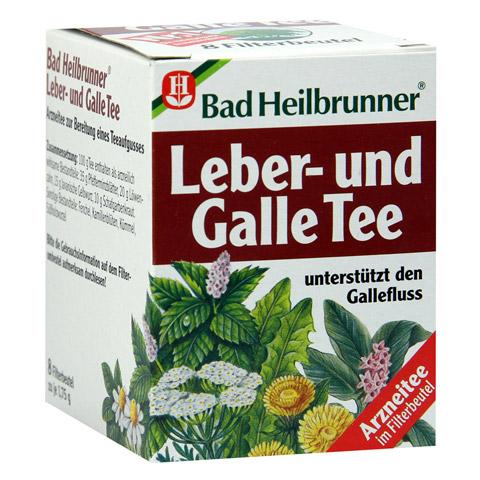 BAD HEILBRUNNER Tee Leber und Galle Filterbeutel 8 Stück