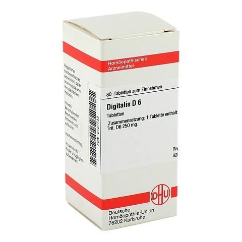 DIGITALIS D 6 Tabletten 80 St�ck N1