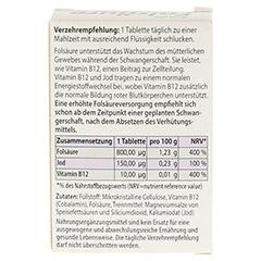 FOLSÄURE 800 Plus B12+Jod Tabletten 120 Stück - Rückseite