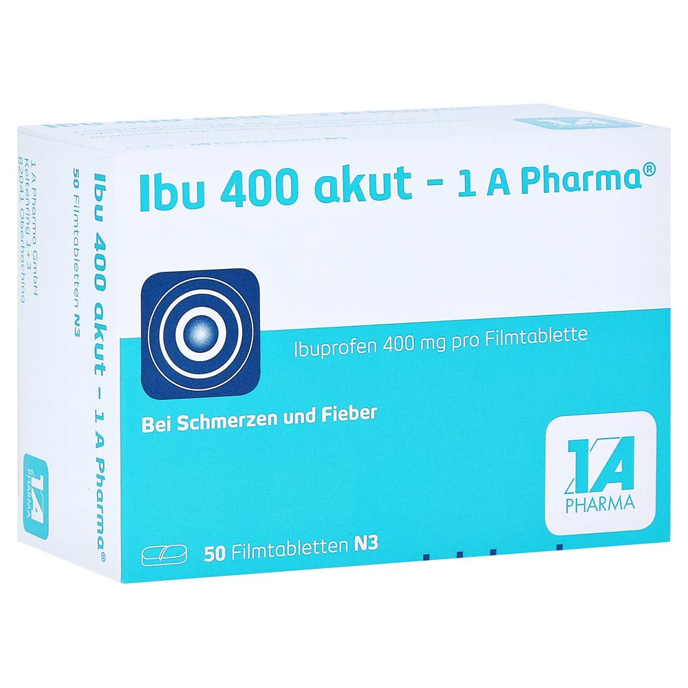 ibu 400 akut 1a pharma 50 st ck n3 online bestellen medpex versandapotheke. Black Bedroom Furniture Sets. Home Design Ideas
