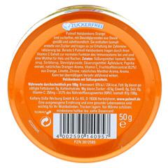 PULMOLL Hustenbonbons Orange+Vit.C zuckerfrei 50 Gramm - Rückseite