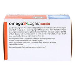 OMEGA 3-Loges cardio Kapseln 60 Stück - Unterseite