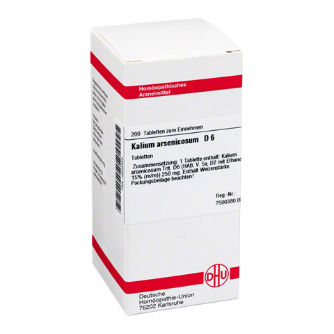 KALIUM ARSENICOSUM D 6 Tabletten 200 Stück N2