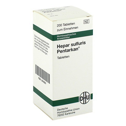 HEPAR SULFURIS PENTARKAN Tabletten 200 Stück N2