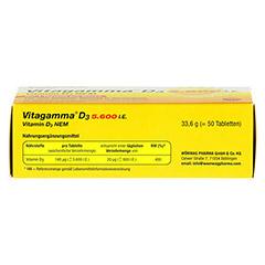 VITAGAMMA D3 5.600 I.E. Vitamin D3 NEM Tabletten 50 Stück - Rückseite