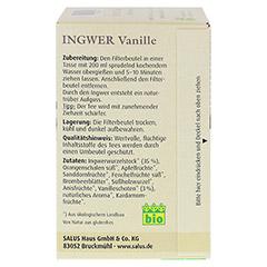 INGWER VANILLE Tee Bio Salus Filterbeutel 15 Stück - Rechte Seite