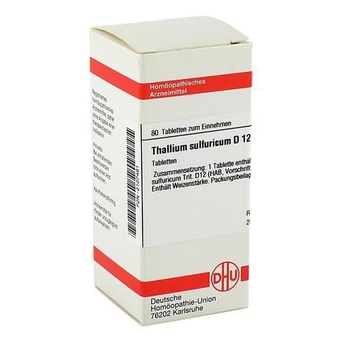 THALLIUM SULF. D 12 Tabletten 80 Stück N1