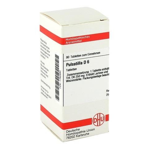 PULSATILLA D 6 Tabletten 80 Stück N1