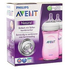 AVENT Flasche 260 ml Naturnah rosa 2 Stück