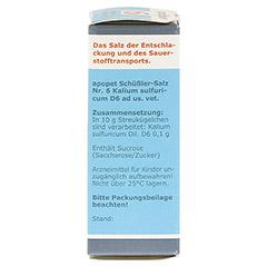 APOPET Schüßler-Salz Nr.6 Kalium sulf.D 6 vet. 12 Gramm - Rechte Seite