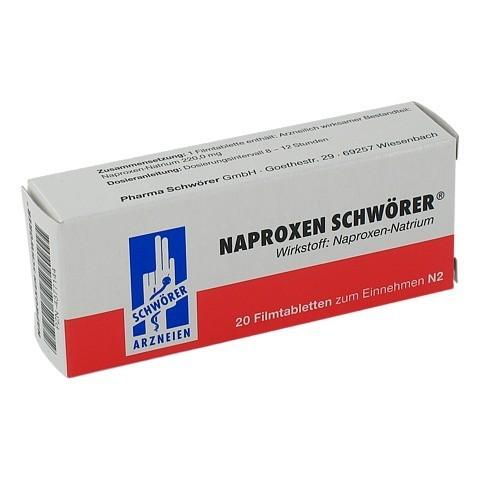 Naproxen Schw�rer 20 St�ck