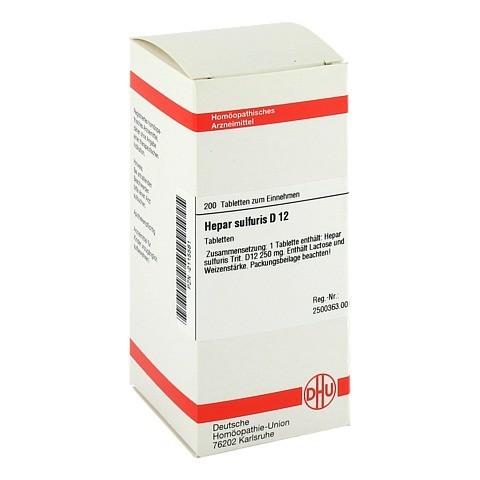 HEPAR SULFURIS D 12 Tabletten 200 St�ck N2