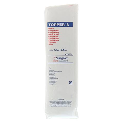 TOPPER 8 Kompr.7,5x7,5 cm unsteril 200 Stück