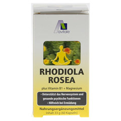 RHODIOLA ROSEA Kapseln 200 mg 60 Stück - Rückseite