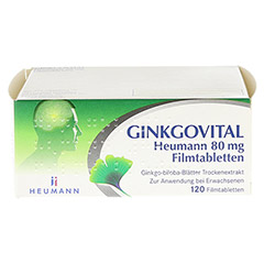 GINKGOVITAL Heumann 80mg 120 Stück N3 - Vorderseite