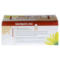 GELEE ROYAL Bio Drink Trinkfläschchen 20x10 Milliliter - Rückseite