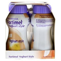 FORTIMEL Yoghurt Style Pfirsich Orangegeschmack 4x200 Milliliter - Linke Seite