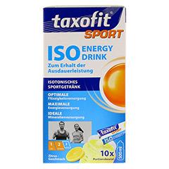 TAXOFIT Sport Iso Energy Drink Zitrus Portionsbtl. 10 Stück - Vorderseite