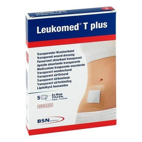 LEUKOMED transp.plus sterile Pflaster 8x10 cm 5 Stück