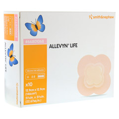 ALLEVYN Life 12,9x12,9 cm Silikonschaumverband 10 Stück