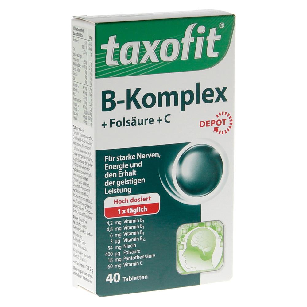 taxofit vitamin b komplex depot tabletten 40 st ck online. Black Bedroom Furniture Sets. Home Design Ideas