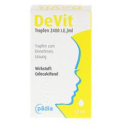 DEVIT Tropfen 2400 I.E./ml Tropfen zum Einnehmen 10 Milliliter N1 - Rückseite