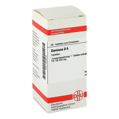 DAMIANA D 6 Tabletten 80 St�ck N1