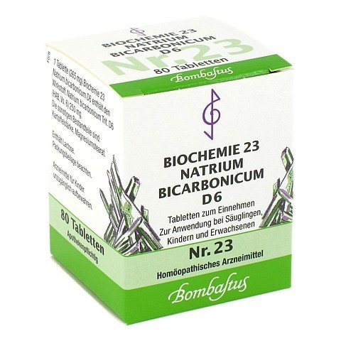 BIOCHEMIE 23 Natrium bicarbonicum D 6 Tabletten 80 Stück N1