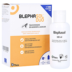 BLEPHASOL Duo 100 ml Lotion+100 Reinigungspads 1 Packung