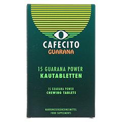 GUARANA CAFECITO Kautabletten 15 St�ck - Vorderseite