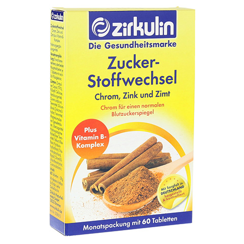 ZIRKULIN Zuckerstoffwechsel Zimt Plus Tabletten 60 St�ck