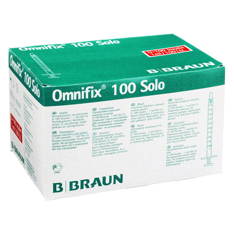 Omnifix Insulin Einm.Spr.f.U 100 Insulin 1 ml 100 St�ck