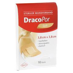 DRACOPOR Wundverband 3,8x3,8 cm steril hautfarben 10 Stück