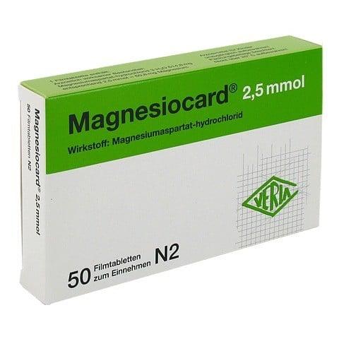 MAGNESIOCARD 2,5 mmol Filmtabletten 50 Stück N2