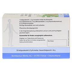 SCHLAF- UND NERVENTEE BOMBASTUS N 20x2.0 Gramm - R�ckseite