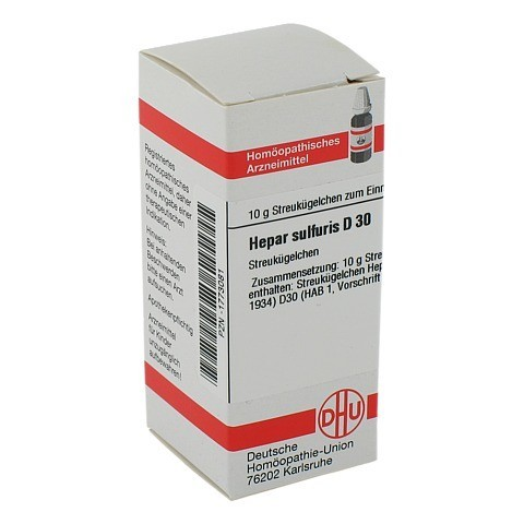 HEPAR SULFURIS D 30 Globuli 10 Gramm N1