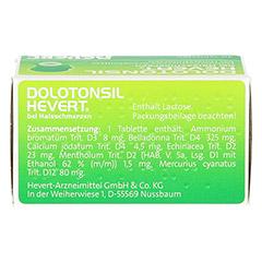 DOLOTONSIL Hevert bei Halsschmerzen Tabletten 40 Stück N1 - Oberseite
