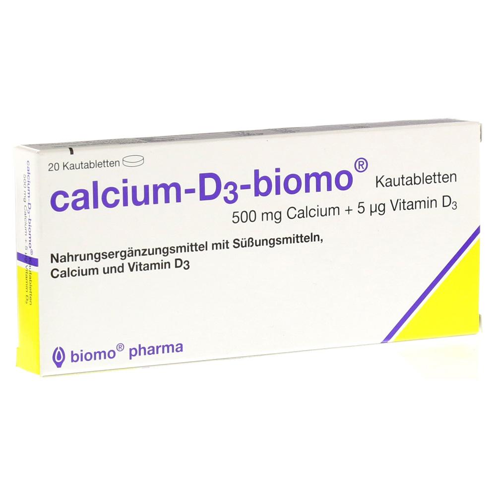 biomo pharma GmbH CALCIUM D3 biomo Kautabletten 500+D 20 Stück